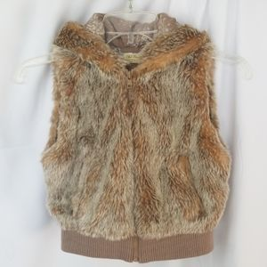 Old Navy Faux Fur Double lined Cotton Vest